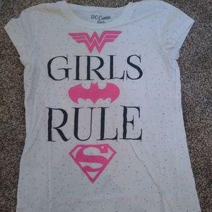 DC Comics Girls Rule Tee Shirt L 10/12